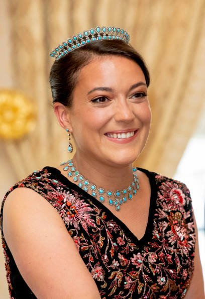 Maria Teresa's Scroll Tiara, Princess Stephanie's butterfly tiara, Princess Alexandra's Charlotte's Pearl and Diamond Choker tiara