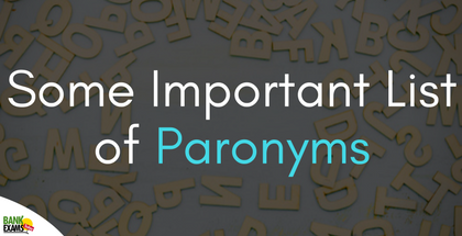 Some Important List of Paronyms