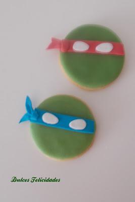 Galletas Tortugas Ninja Fondant