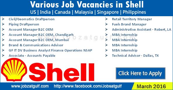 Job Vacancies In Shell Us India Canada Malaysia