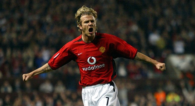 Football Legends wore the No.7 at Manchester United - David Beckham