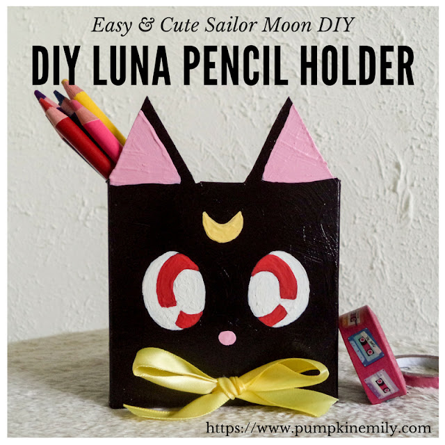 DIY Luna Pencil Holder | Easy & Cute Sailor Moon DIY