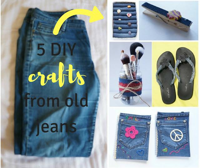 5 DIY κατασκευές από παλιά τζιν χωρίς ράψιμο
