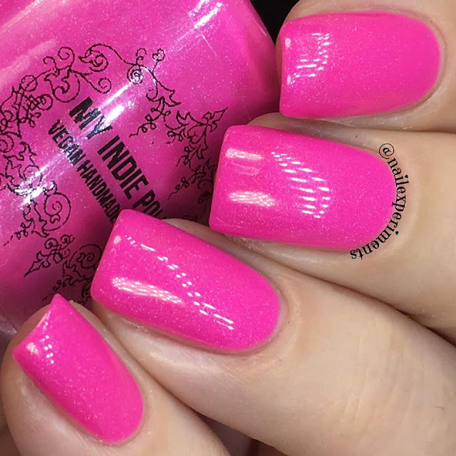 my indie polish the pinks collection polish in pink lambo