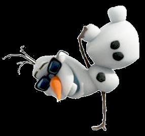 Olaf en una mano.