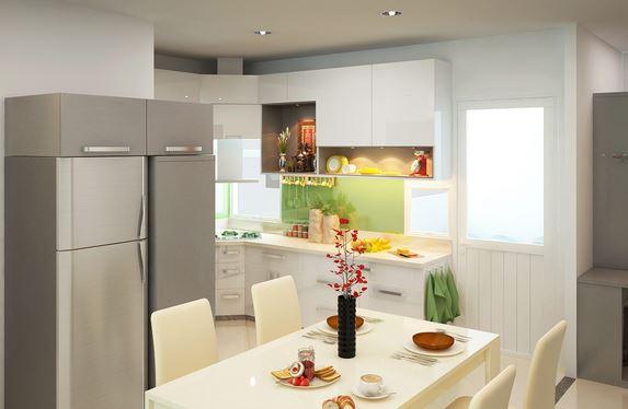 Không gian bếp ấm cúng