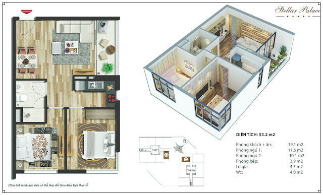 Chi tiết căn hộ chung cư Stellar Palace
