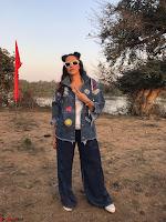 Neha Dhupia In seasame and Swarovski on the sets of roadies Rising (2) ~ .jpeg
