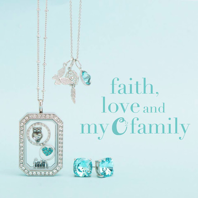 Faith, Love + Family Origami Owl Locket available at StoriedCharms.com