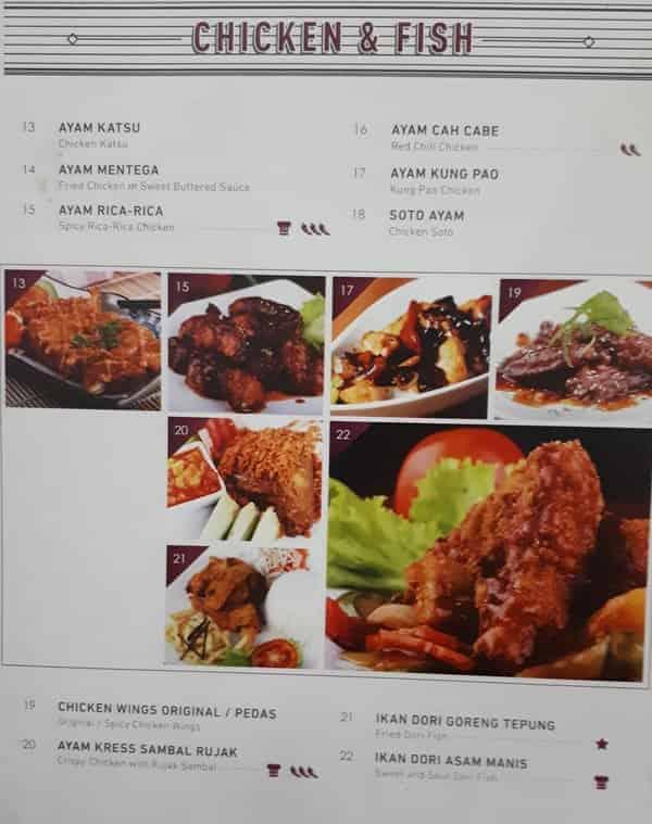 Menu Masaan Ayam dan Ikan Resto Anggrek