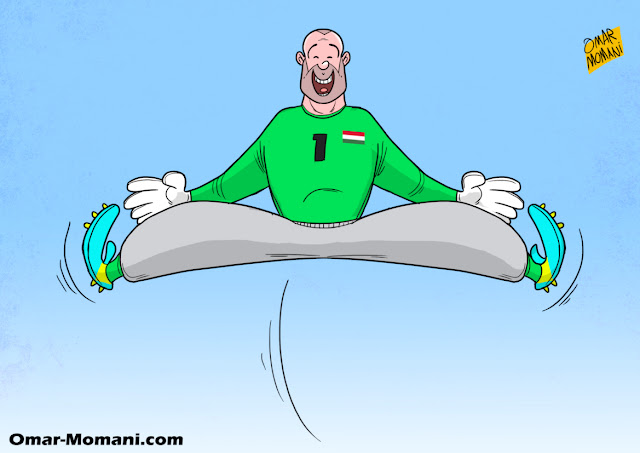 Gabor Kiraly cartoon caricature