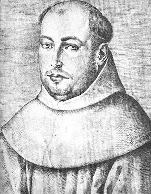 Retrato de Juan de la Cruz en grises