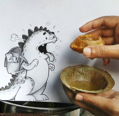 dessin humoristique et gourmandises