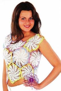 Top Exagonos de Crochet Patron
