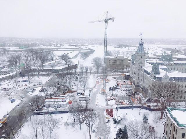 Hilton Québec City 2121 room view