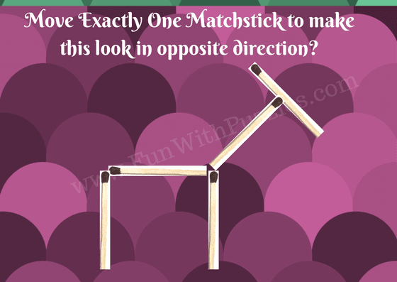Matchstick Puzzle for kids-Donkey
