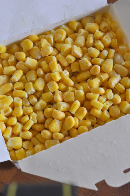 Box of Frozen Corn