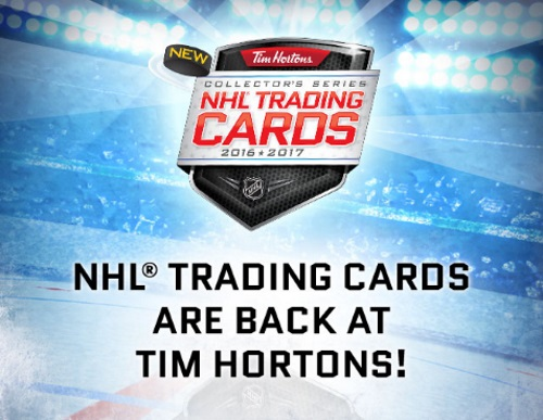 Tim Hortons NHL Trading Cards + Collect To Win Contest