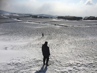 Sledging in winter