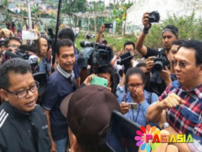 Herianudin yang Mengaku Sebagai Ketua FPI Pasar Minggu Mengahadang Ahok saat Blusukan di Jati Padang