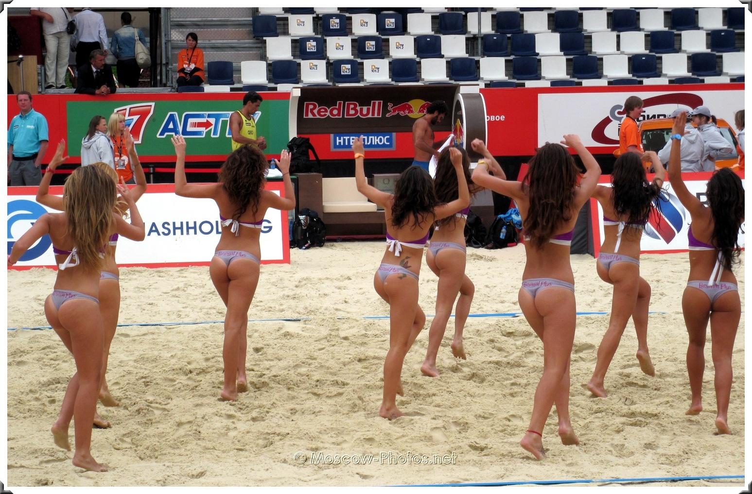 Beach Volleyball Fashion TV Bikini Cheerleaders