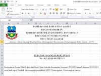 Contoh Surat Keterangan Kelulusan Jenjang SD 2019 Format Excel