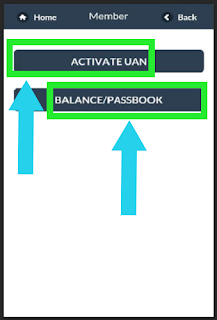 Step 2 to activate Uan using epf mobile app