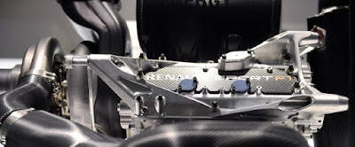vista close-up del motore Renault Sport Energy lato dx