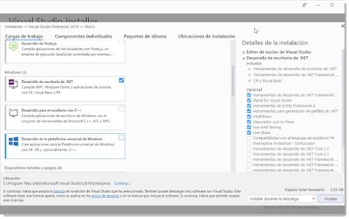 Microsoft Visual Studio 2019 v16.0.28729.10 RTM