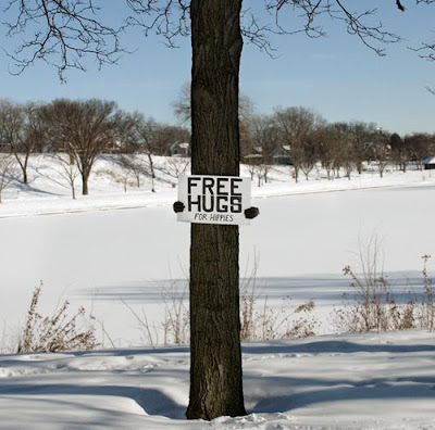 Funny Signs Free Tree Hugs
