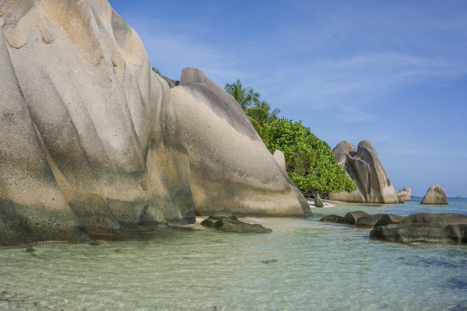 Seychelles beach, paradise beach, empty beach Seychelles, no filter Seychelles