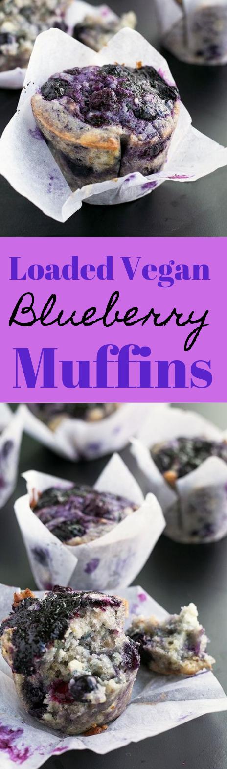 LOADED VEGAN BLUEBERRY MUFFINS #vegan #cake