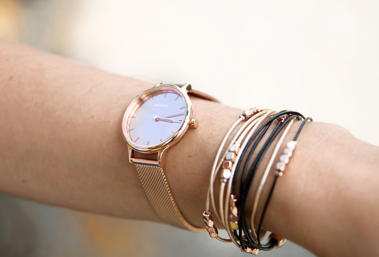 Skagen watch in rose gold