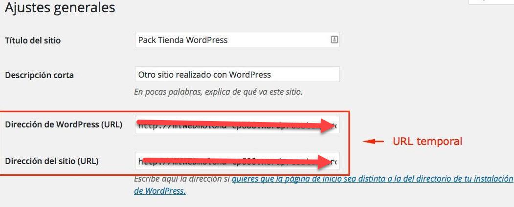 Como Actualizar URL de WordPress