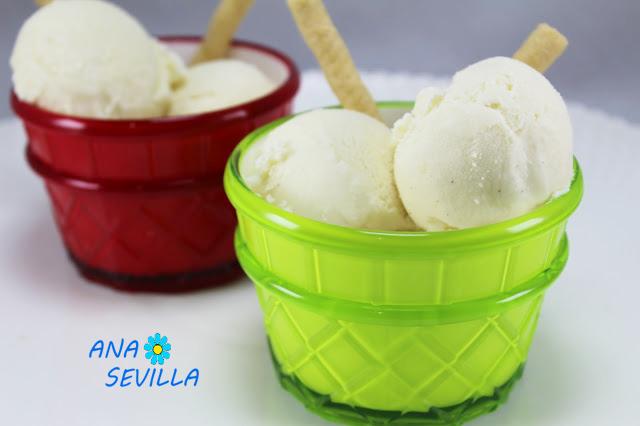 Helado de vainilla expres (Sin huevo) Ana Sevilla con Thermomix