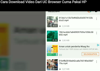 download video dari uc