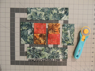 fabric pieces potholder