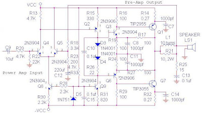 Amplifier OCL Circuit