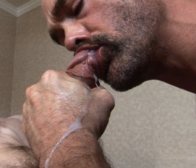 Dad sucking his son's dick