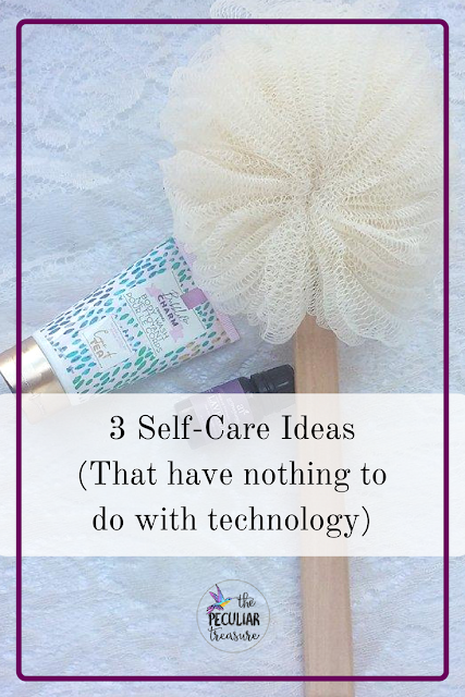 my three favorite self-care rituals that are also technology free.