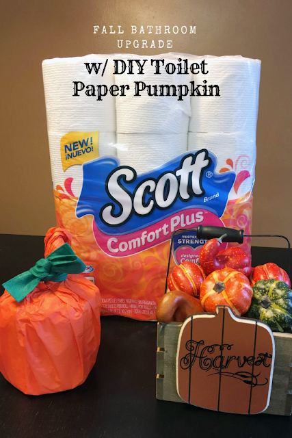 DIY Toilet paper pumpkin