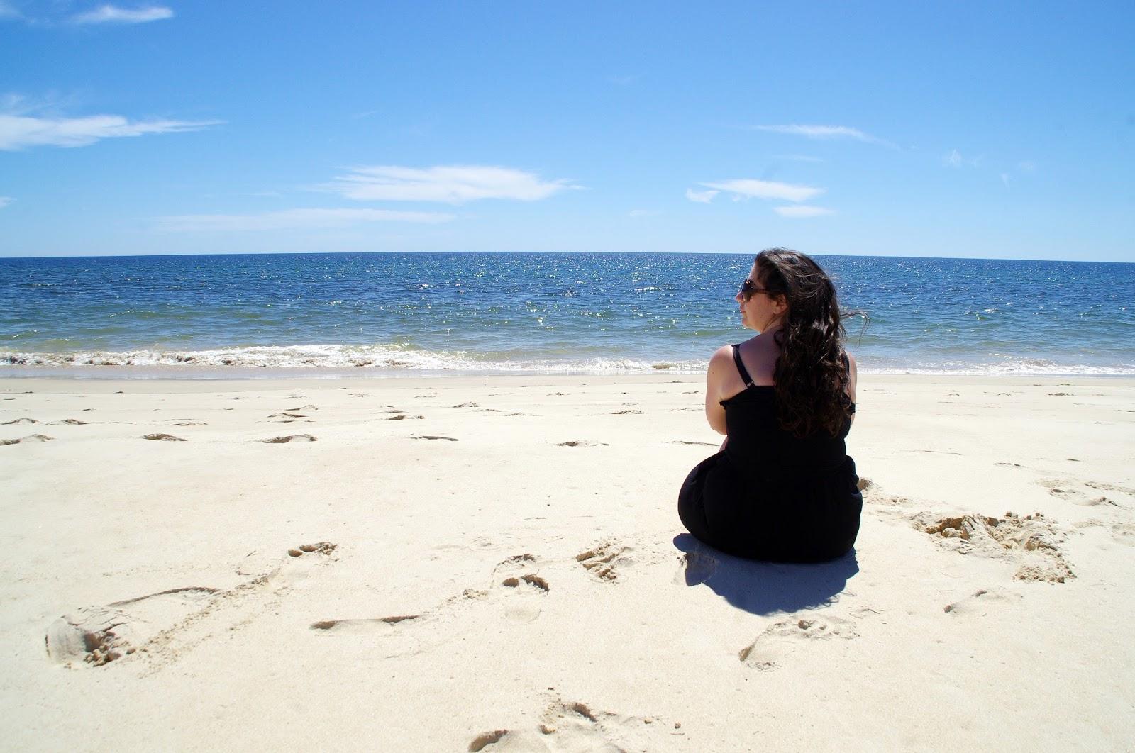 Simone on Barril Beach Ilha Tavira