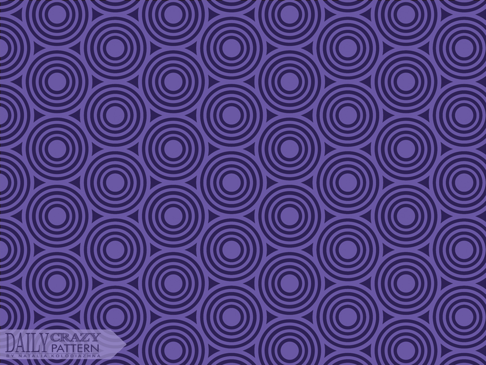"Geometric purple pattern for ""Daily Crazy Pattern"" project"