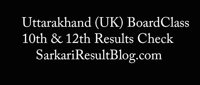 Uttarakhand (UK) Board Results