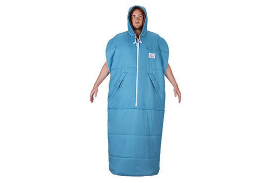 So This Is A Sleeping Bag You Can Wear It Has Arm Holes And Starts Unzipping At The Bottom S Hood Amazing