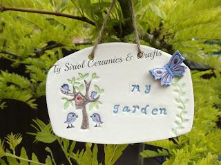 Ty Siriol Ceramics garden plaque
