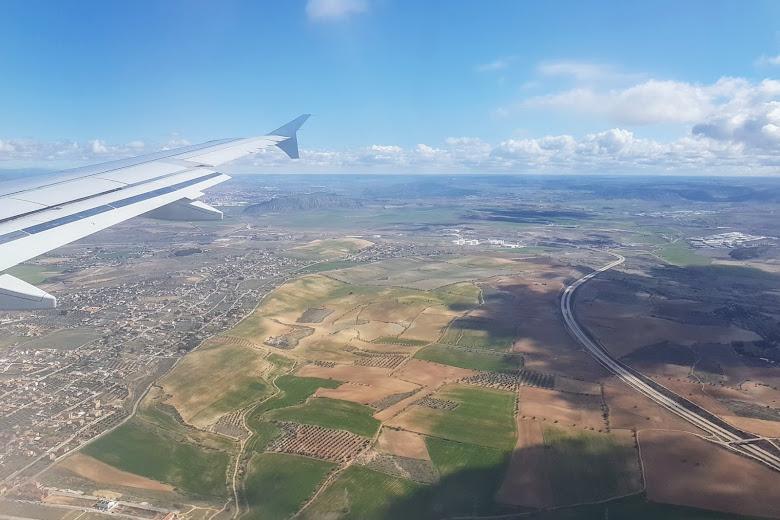 從飛機上看馬德里