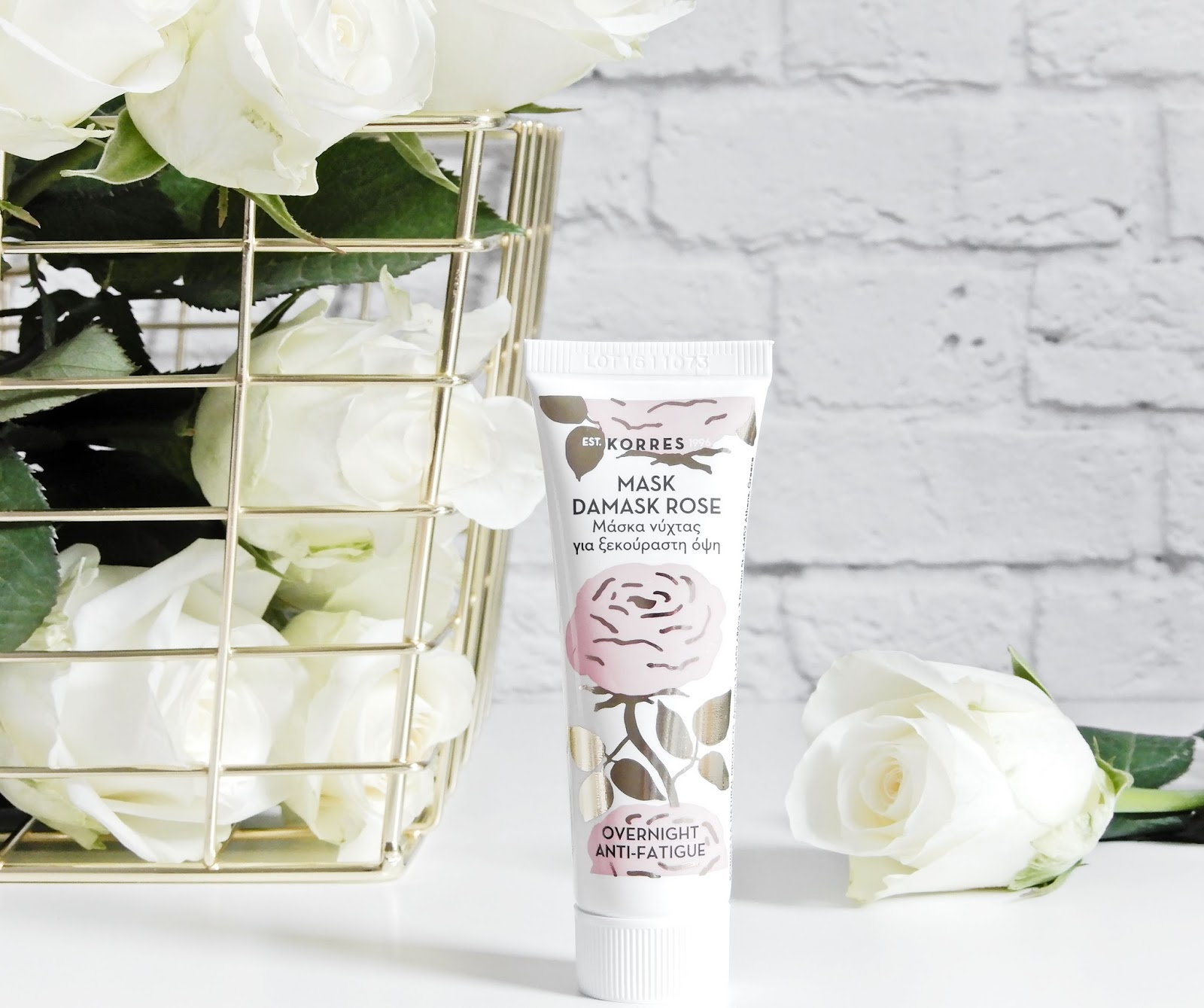 Korres DAMASK ROSE Overnight Treatment for Refreshed Skin,
