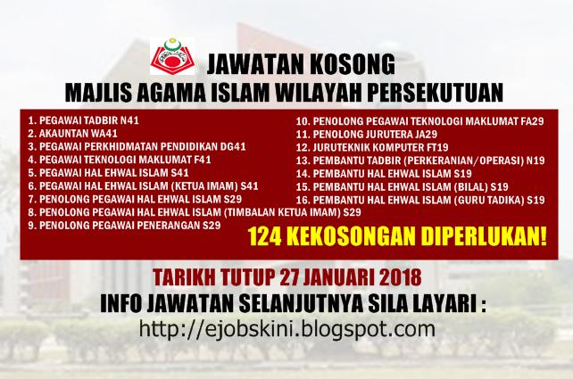 Jawatan Kosong Majlis Agama Islam Wilayah Persekutuan Maiwp 27 Januari 2018