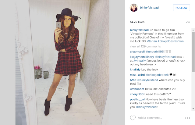 @binkyfelstead tartan check shirt dress inthestyle.com